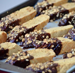 Chocolate Peanut Butter Biscotti