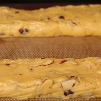 almond biscotti logs